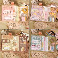 chipboard albums creative diy scrapbook mini album for gift 3 ring binding girl