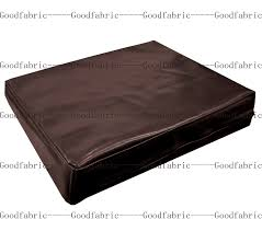 faux leather throw pillows pe203t coco brown faux leather classic pattern 3d box cushion