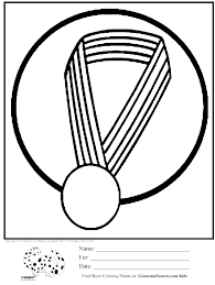 olympic coloring page gold medal kids activities pinterest