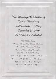 programs for a wedding ceremony wedding programs wording etiquette storkie