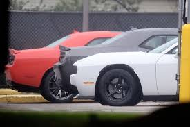 dodge challenger all models dodge challenger hellcat adr spied is a widebody sore thumb