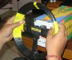 diy homemade steering wheel usb pc with viberation 10 steps
