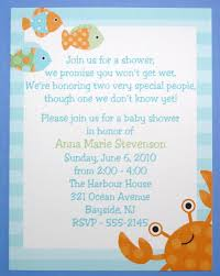 design under the sea baby shower invitations
