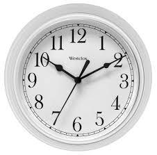 westclox westclox 9 inch white wall clock home home decor