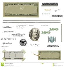photo hundred dollar bill elements isolated stock illustration