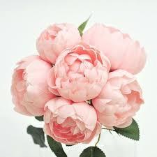 silk peonies light pink peonies blush pink peony bush including 6 blush pink