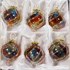 christmas ornament sets blown glass christmas ornaments set of 6 ornaments