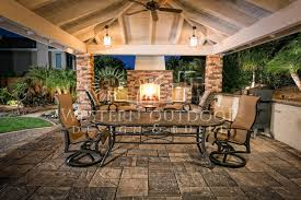 outdoor livingroom warm outdoor living area in patio with warm fireplace part of