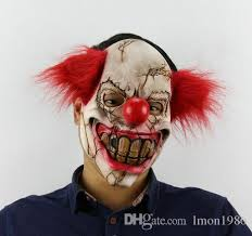 Pennywise Halloween Costume Funny Party Cosplay Evil Circus Clown Mask Pennywise Halloween