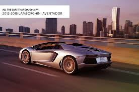 cars movie lamborghini all the cars that go 200 mph