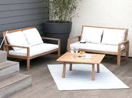 canapé d angle exterieur canape d exterieur banc de jardin en acacia massif 2 places salon