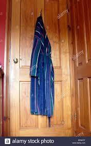 Bedroom Door Dressing Gown Hanging On Back Of Bedroom Door Stock Photo Royalty