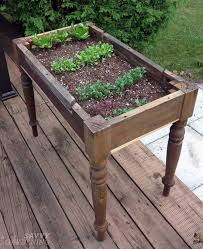 upcycled coffee table or into herb garden planter vegetable