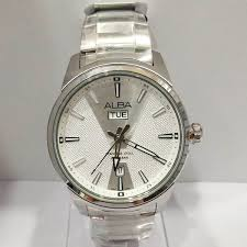 Jam Tangan Alba Putih jam tangan alba original pria av3529 silver putih loyalwatch