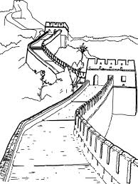 the great wall of china coloring page for kids great wall of china