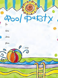 free online pool party invitations kids pools pinterest pool