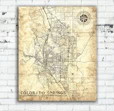 Map Of Colorado Springs Co by Colorado Springs Co Canvas Print Vintage Map Colorado Springs