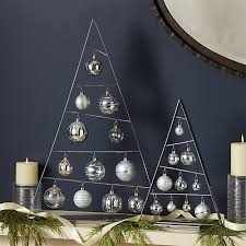 silver a frame ornament trees with set of silver ornaments crate