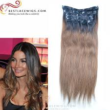 ombre extensions hair 8pcs clip in hair extension ombre
