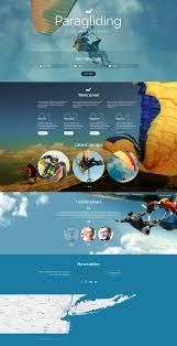 paragliding responsive landing page template 55433 landing