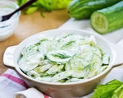 comment cuisiner un concombre recette salade de concombre au yaourt