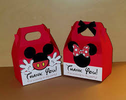 mickey mouse gift bags 12 minnie or mickey mouse inspired favor boxes bags minnie or