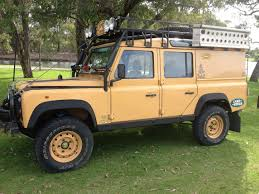 land rover camel land rover defender 110 station wagon 300 tdi diesel camel trophy