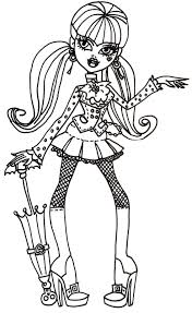 draculaura coloring pages getcoloringpages com