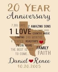20 year anniversary gift 20th wedding anniversary gift 2017 wedding ideas magazine