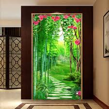 compare prices on bamboo forest mural online shopping buy low custom wall mural wallpaper for walls 3d flower vine bamboo forest small road 3d entrance hallway