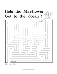 thanksgiving maze mayflower png