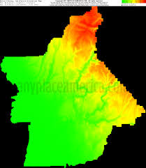 Arizona Elevation Map by Free Butte County California Topo Maps U0026 Elevations