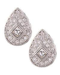 teardrop diamond earrings charriol white gold teardrop diamond earrings in metallic lyst