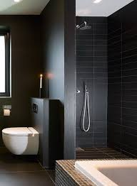 Best Black Bathroom Mustat Kylpyhuoneet Images On Pinterest - Black bathroom design ideas