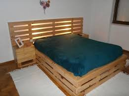 Headboard Made From Pallets Lofty Inspiration Wood Pallet Bed Frame 42 Diy Recycled Pallet Bed
