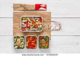 healthy food delivery take away natural stock photo 529411225