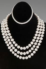 pearl necklace gifts images Triple strand kallah pearls necklace perfect gifts bridal wedding jpg