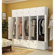 Cloth Closet Doors Kousi Portable Clothes Closet Wardrobe Bedroom Armoire