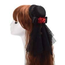 lace headwear floral black lace hat hair clip vintage