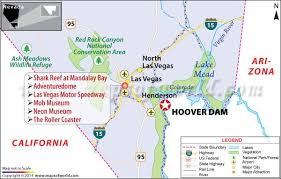 map us las vegas hoover dam nevada arizona facts location map best time to visit