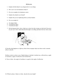 ks3 light practice exam questions test by nealthornes teaching