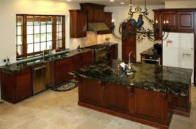 Cherry Wood Kitchen Cabinets With Black Granite Kitchen Backsplash Cherry Cabinets Black Counter Gold Granite