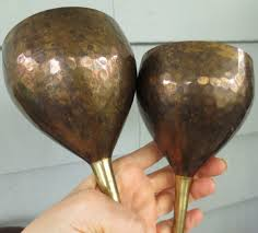 wedding goblets vintage brass pagan handfasting chalices wedding goblets
