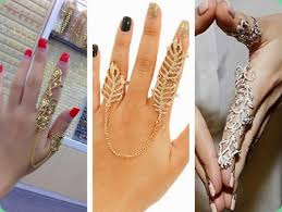 double knuckle rings images Double linked knuckle rings bridal couture trendalert bling jpg