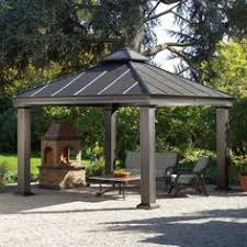 rustic pergola with metal roof or cedar shakes u0026 stone the