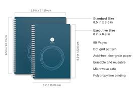 Standard Size Microwave by Rocketbook Wave Cloud Connected Reusable Notebook Standard Size