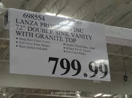 Costco Vanities For Bathrooms Lanza 72 Inch Double Sink Vanity With Granite Top Costco 4 Costco