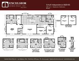 schult modular home floor plans schult independence 6828 85 excelsior homes west inc