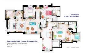 accurate floor plans of 15 famous tv show apartments will