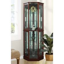 What To Put In A Curio Cabinet Andover Mills Biali Lighted Corner Curio Cabinet U0026 Reviews Wayfair
